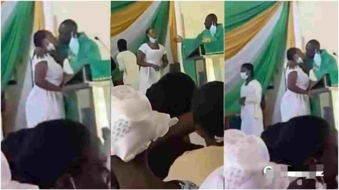 Anglican Church priest kissing students