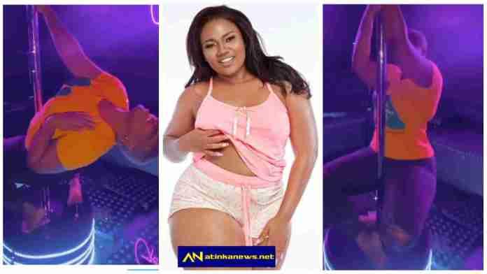 Abena Korkor appears as a stripper at Club
