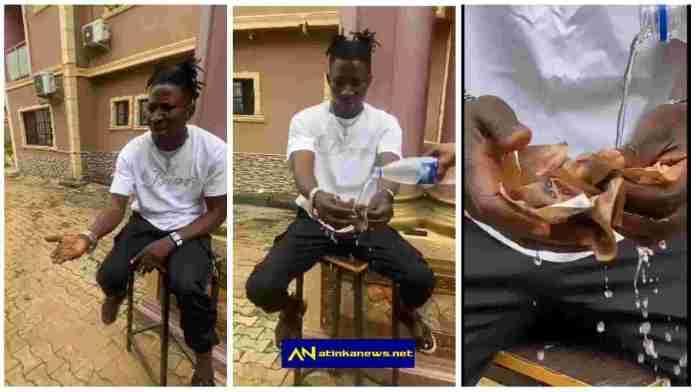 Nigerian man turns sand to money