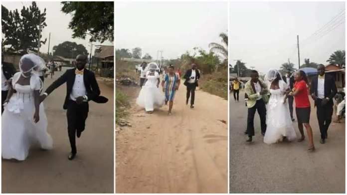 Bride runs away from wedding venue