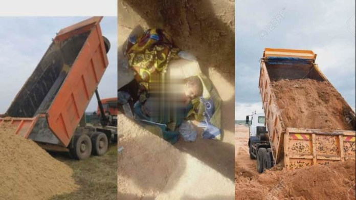 tipper truck driver mistakenly offloaded sand