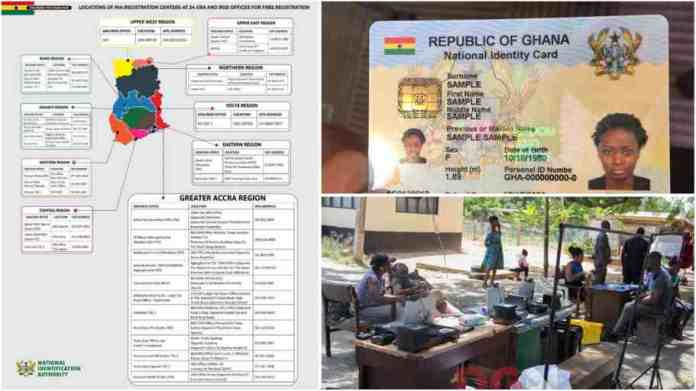 Ghana card registration center 2021