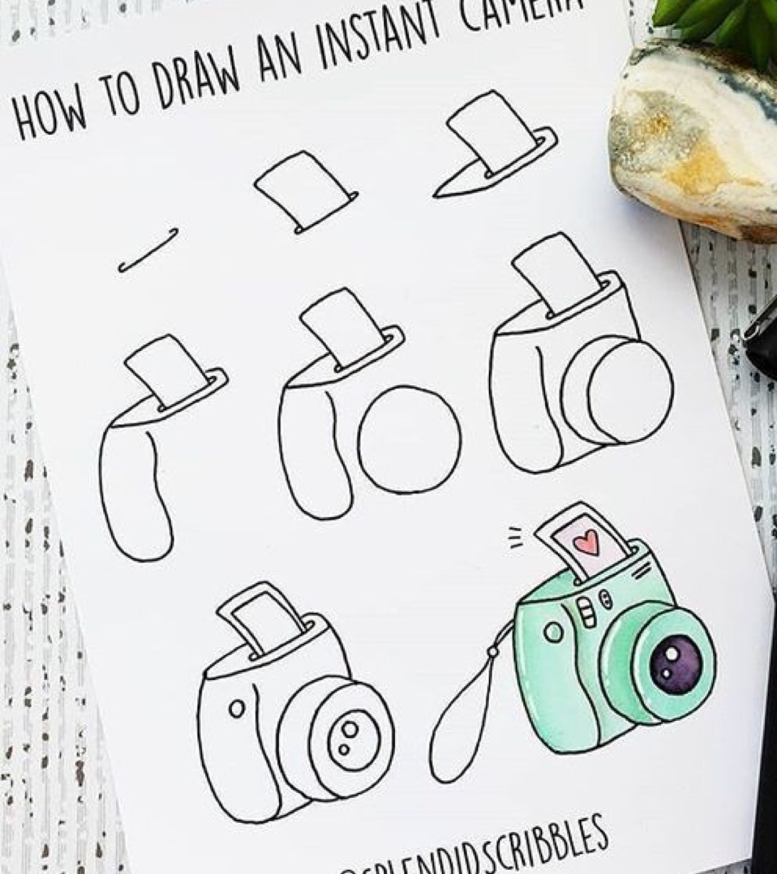 how to, step by step, doodle camera