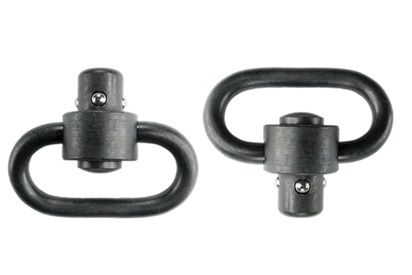 Heavy Duty Push Button Swivels, Black
