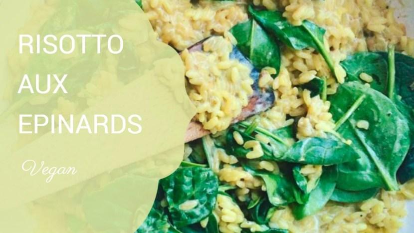 risotto aux epinards - Recettes végétariennes à a tire larigot
