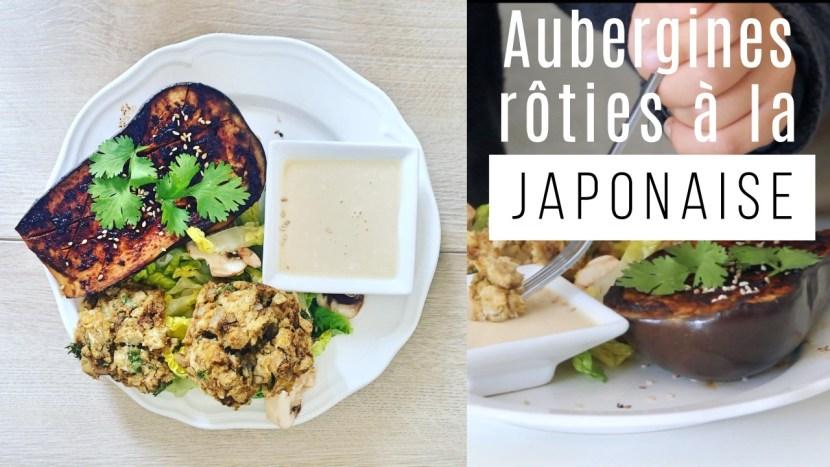 aubergines roties à la japonaise - recettes végétariennes et vegan - atirelarigot