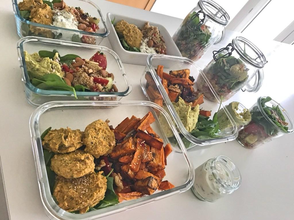 meal prep - recettes végétariennes et vegan - atirelarigot
