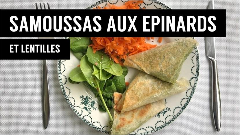 samoussas aux epinards et lentilles - recettes végétariennes et vegan - atirelarigot