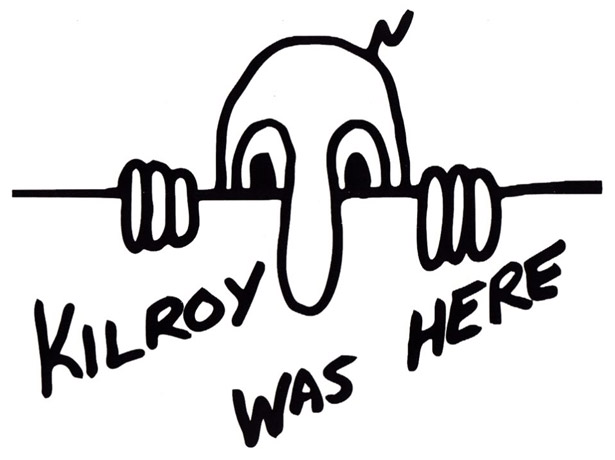 Image result for donald trump the wall kilroy was here