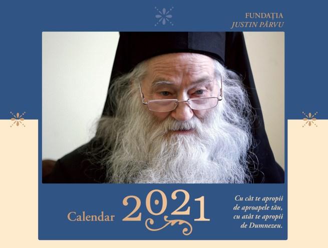 Calendar ortodox 2021 Parintele Justin Parvu coperta