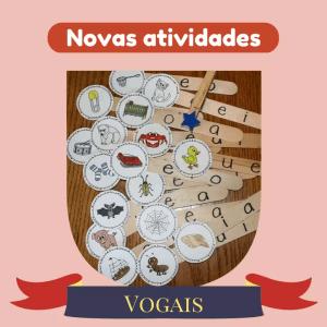 atividades para ensinar as vogais para as crianças utilizando materiais alternativos