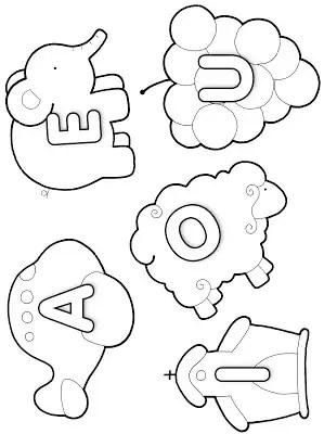 vogais para colorir