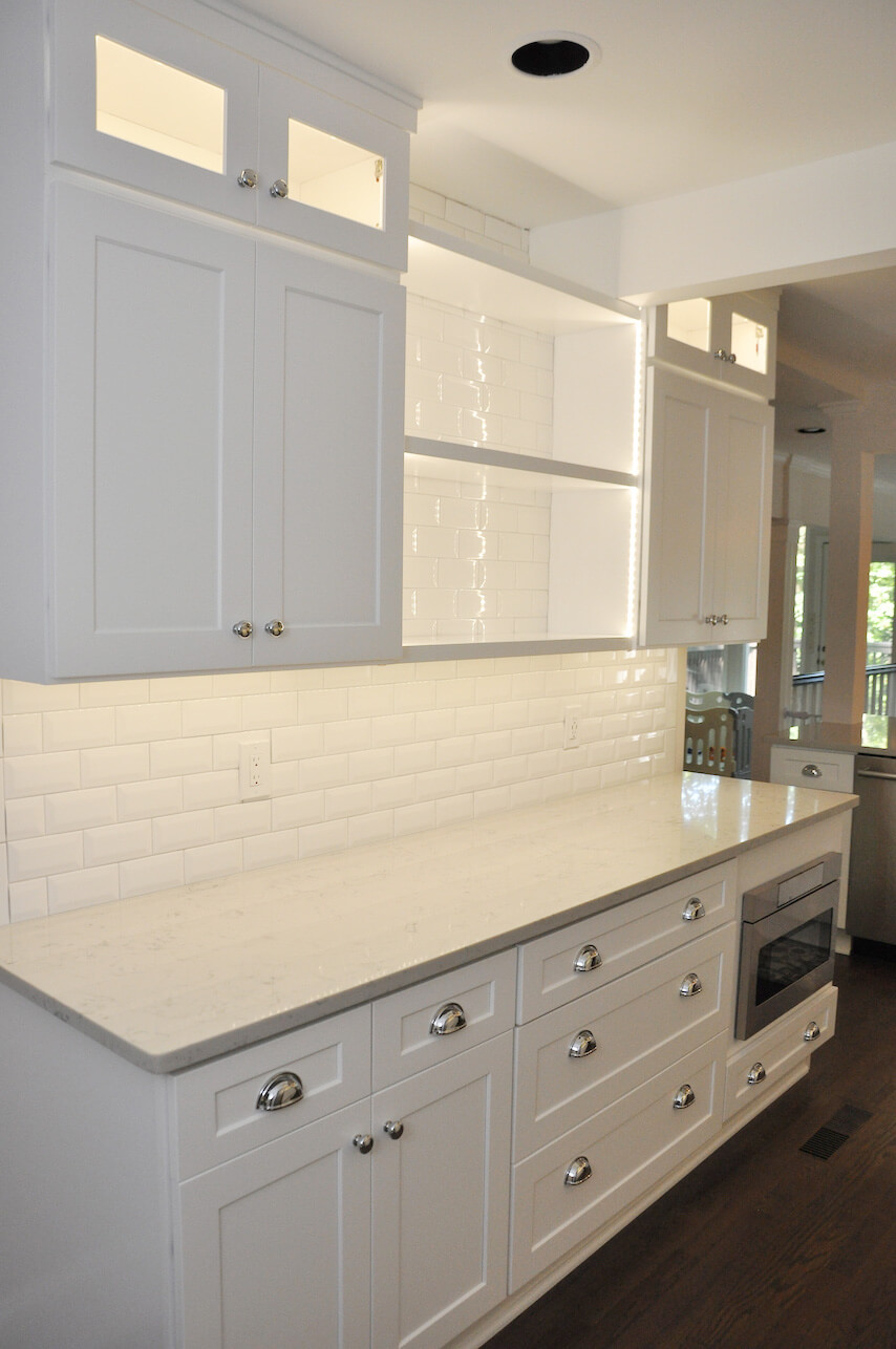 white kitchen after remodel
