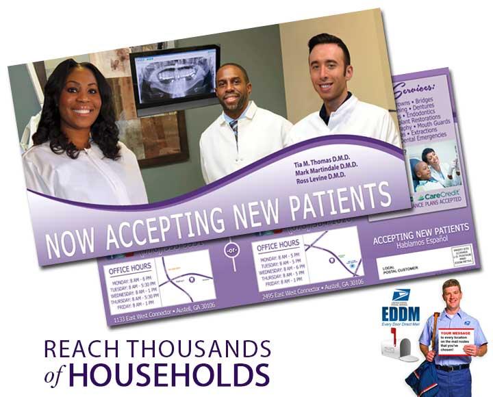 dental direct mail postcard marketing
