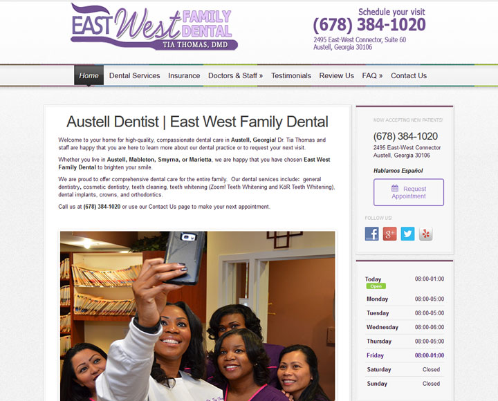 atlanta dentist website