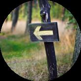arrow pointing to path