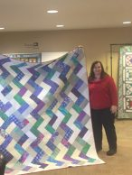 Crystal and her President's Quilt