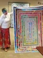 Linda's Beautiful Kaffe Fasset quilt.