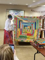 Linda's clever take on a Jelly Roll Race quilt