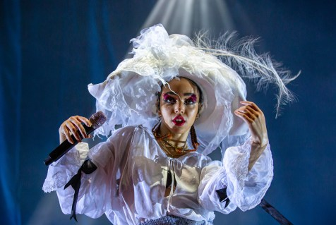 ATLANTA, GEORGIA - OCTOBER 12: FKA TWIGS performs during day 1 of AFROPUNK Music Festival at Atlanta 787 WINDSOR on October 12, 2019 in Atlanta, Georgia. Photo: Ryan Fleisher/imageSPACE