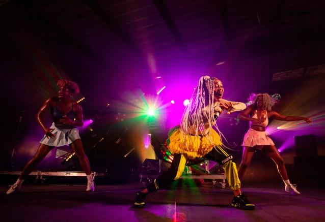 ATLANTA, GEORGIA - OCTOBER 12: SHO MADJOZI performs during day 1 of AFROPUNK Music Festival at Atlanta 787 WINDSOR on October 12, 2019 in Atlanta, Georgia. Photo: Ryan Fleisher/imageSPACE