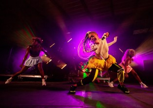 ATLANTA, GEORGIA - OCTOBER 12: SHO MADJOZI performs during day 1 of AFROPUNK Music Festival at Atlanta 787 WINDSOR on October 12, 2019 in Atlanta, Georgia. Photo: Ryan Fleisher/imageSPACE