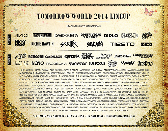 TomorrowWorld 2014 Lineup