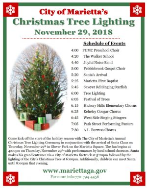 marietta christmas tree lighting