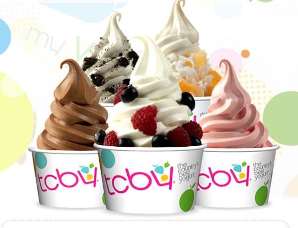 TCBY free frozen yogurt