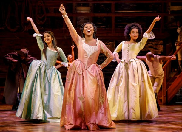 the Schuyler sisters from Hamilton stage play