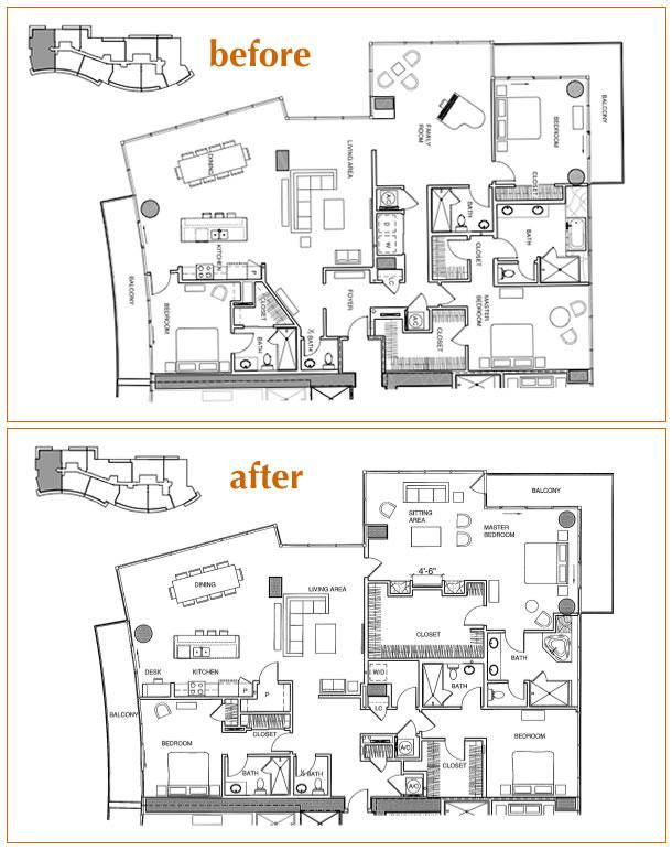 1010 Midtown Penthouse Floorplan