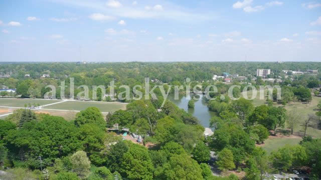 Piedmont Park from the Penthouse, spectacular.