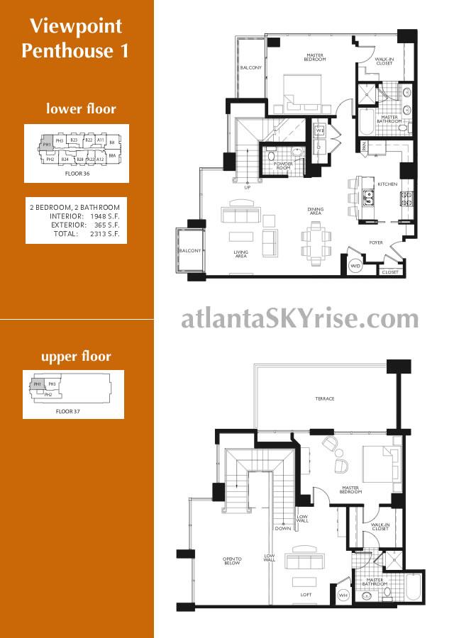 Viewpoint Penthouse 1 in Midtown atlantaSKyrise.com