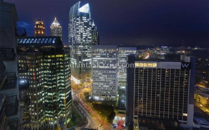 Midtown Atlanta Skyrise from Mayfair Renaissance Penthouse