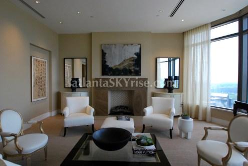 Mandarin Oriental Residences Atlanta 45A Living Room 1
