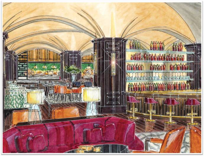 SRA Restaurant_Rendering Bar