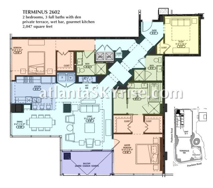 Terminus Unit 2602 Floor Plan