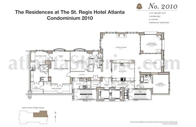 St Regis 2010 Floor Plan