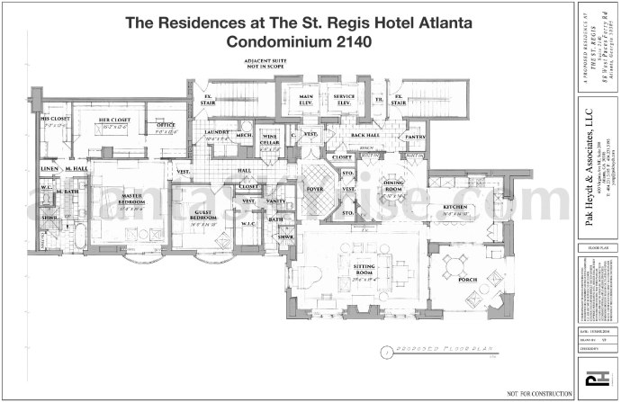St Regis 2140 Floor Plan