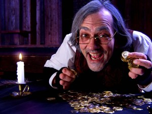 Drew Reeves in A Christmas Carol at the New American Shakespeare Tavern