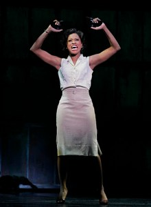 Felicia Boswell performs in the National Tour of Memphis at Atlanta's Fox Theatre.