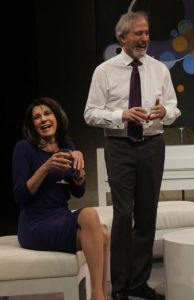 Mary Lynn Owen (Ouisa) and James Donadio (Flan) in Six Degrees of Separation. Photo by  Jenny Hofstetter Photography