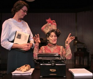 Elisa Carlson and Ellen McQueen in Ghost-Writer at Theatre in the Square