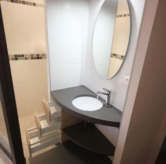 meubles en angle pour salle de bain