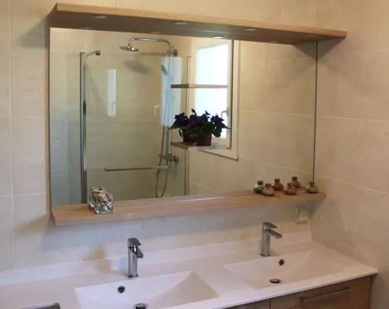 Un Meuble Entre Murs Et Un Plan De Toilette Avec