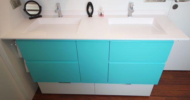 5 meubles doubles vasques originaux