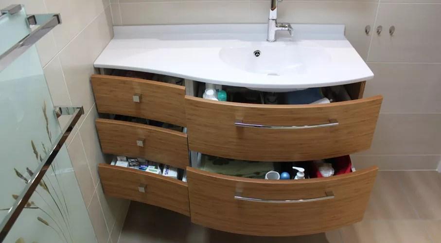 meubles salle de bain bois massif