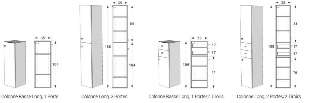 meuble de rangement colonnes de bain