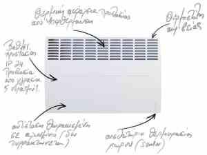 Electric heaters Atlantic 5 years warranty - Greece dealer Sani hellas SA