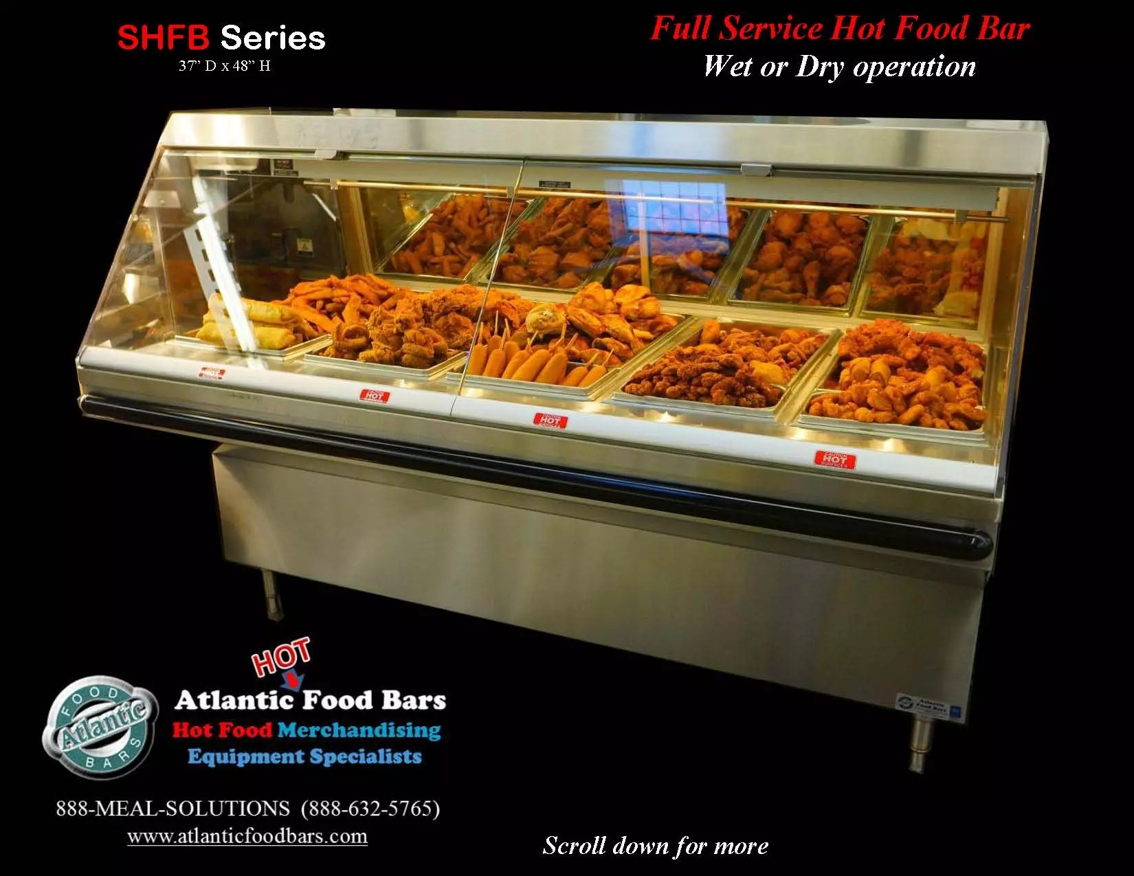 atlantic food bars wet dry full service hot food bar